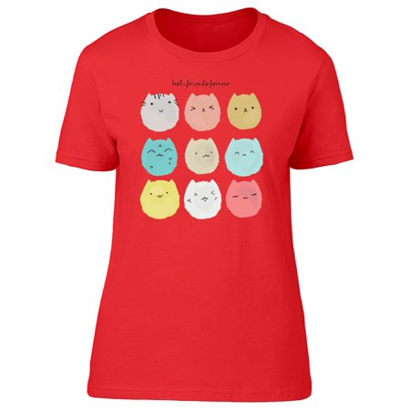 Best Friends Forever Cat Collage Tee Women's -Image by (Best Friend Collage Maker)