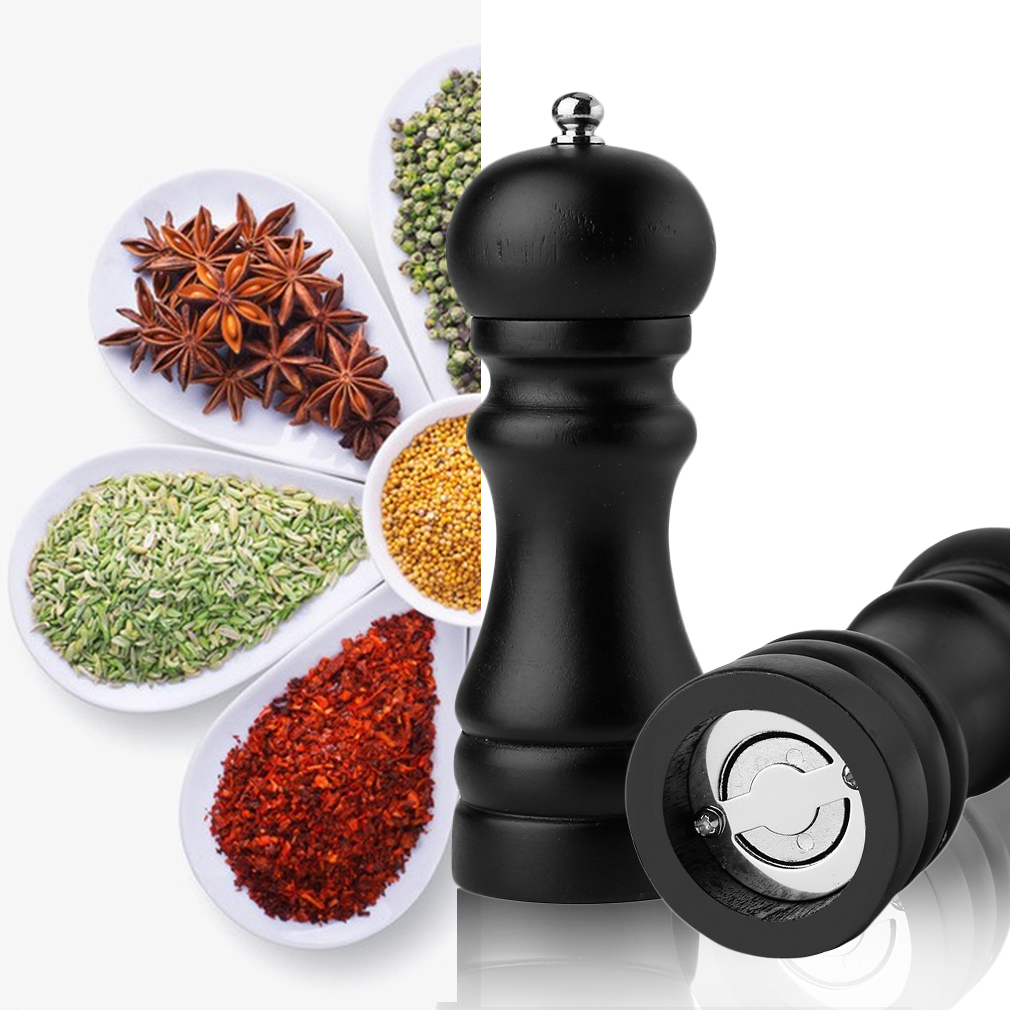 4/5/8 Inch Manual Wood Pepper Salt Spice Corn Mill Grinder Restaurant Home Kitchen Tool Cooking Accessaries