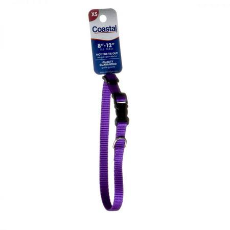 Tuff Collar Nylon Adjustable Collar - Purple 8-12 Long x 3/8 -