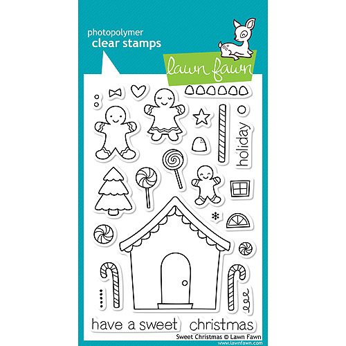 Lawn Fawn Clear Stamps-Sweet Christmas