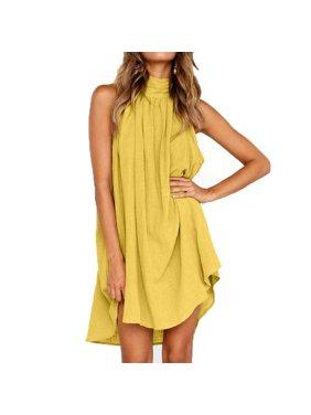 36dfda7fc9ec10 Product Image Womens Holiday Irregular Dress Ladies Summer Beach Sleeveless  Party Dress