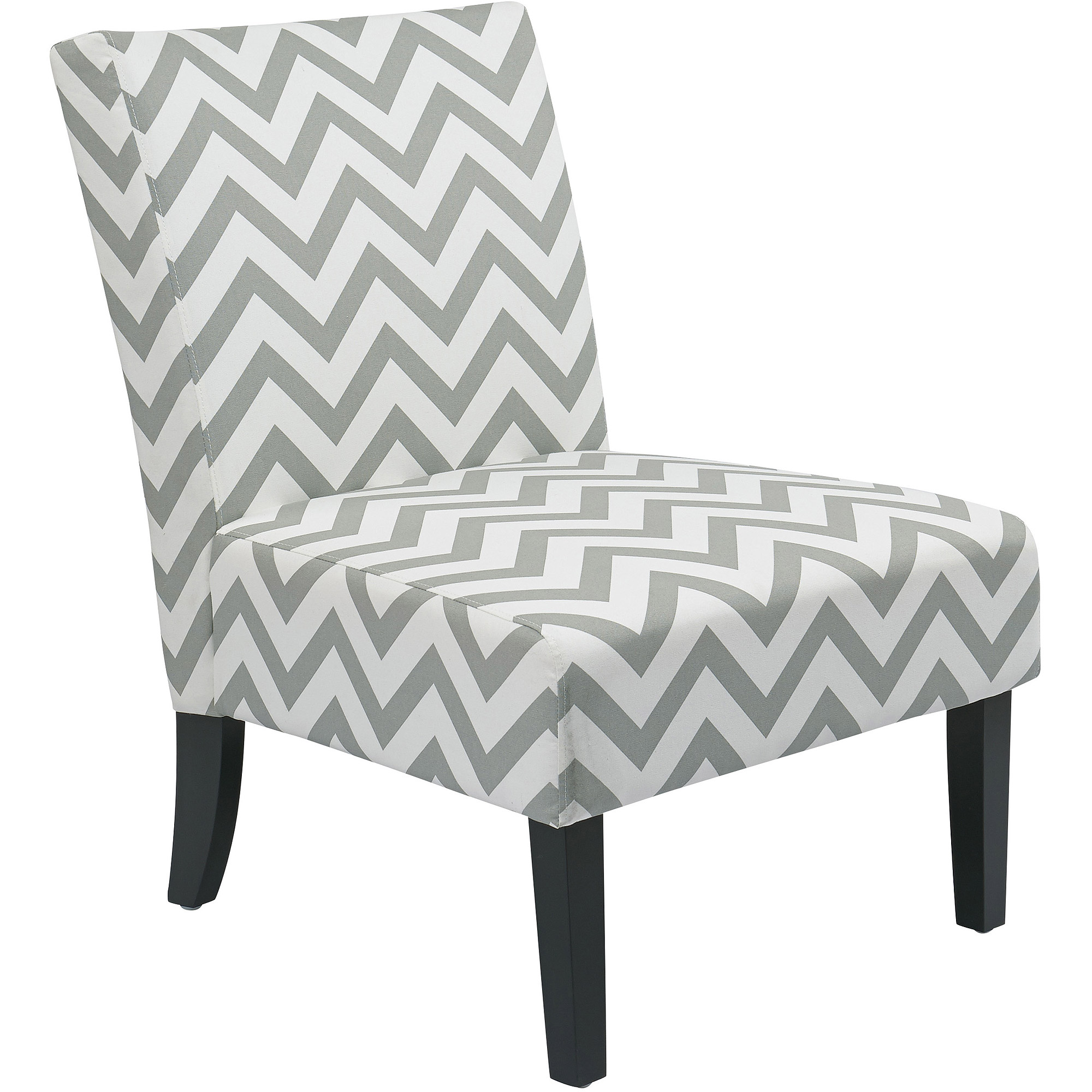Avenue Six Victoria Pattern Armless Accent Chair