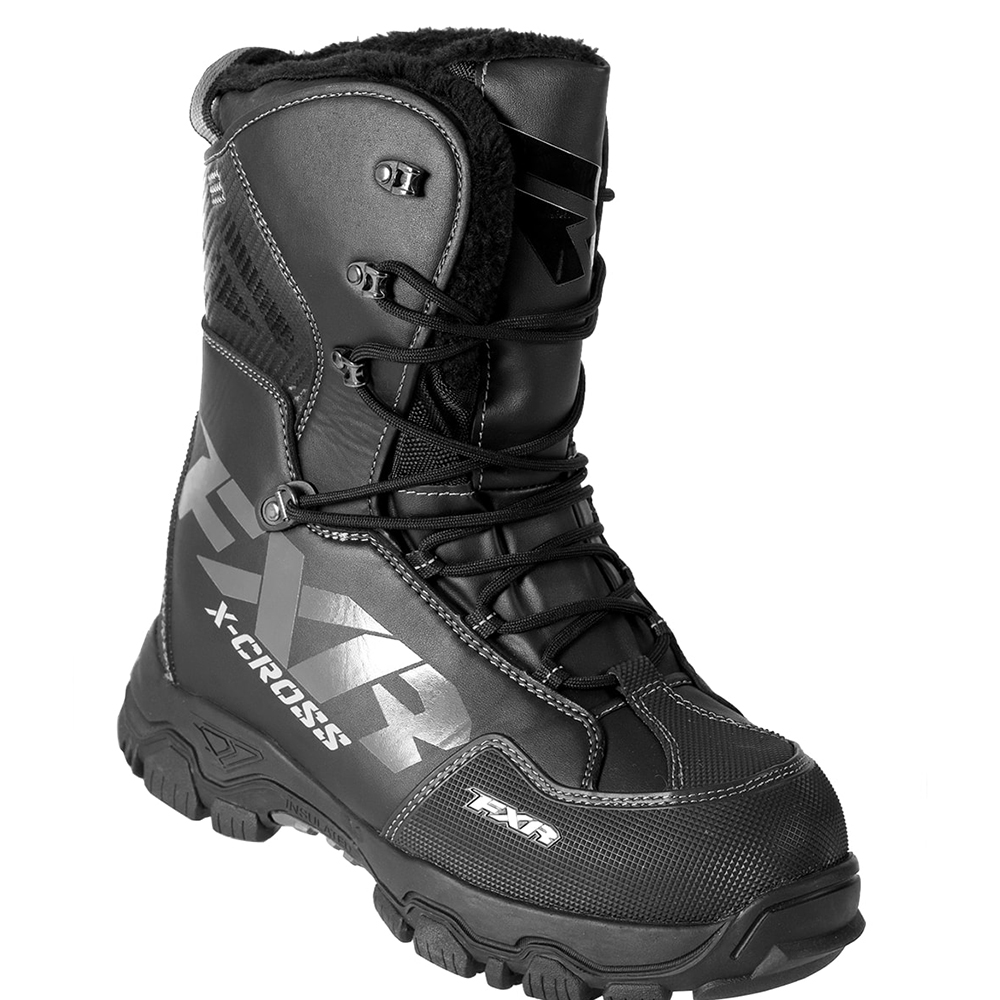 FXR Xcross Snowmobile Boots Black Ops Mens 11 EU45
