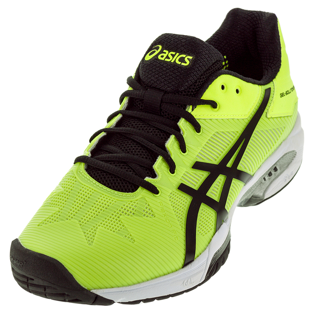 Asics Men`s Gel-Solution Speed 3 Tennis Shoes Safety Yell...