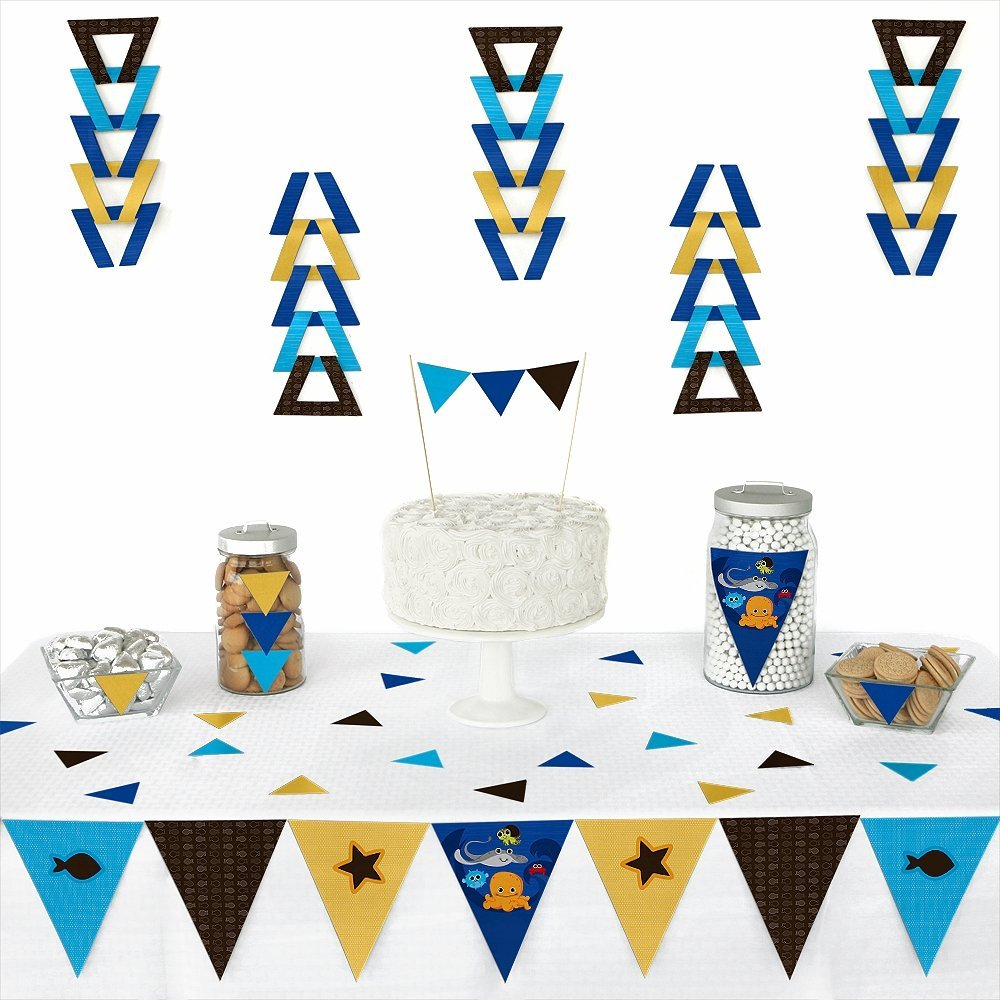 Under The Sea Critters - Triangle Party Decoration Kit - 72 Pieces