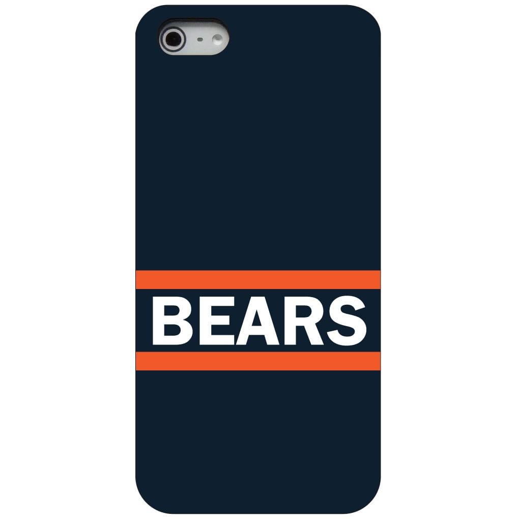 CUSTOM Black Hard Plastic Snap-On Case for Apple iPhone 5 / 5S / SE - Orange Navy Bears