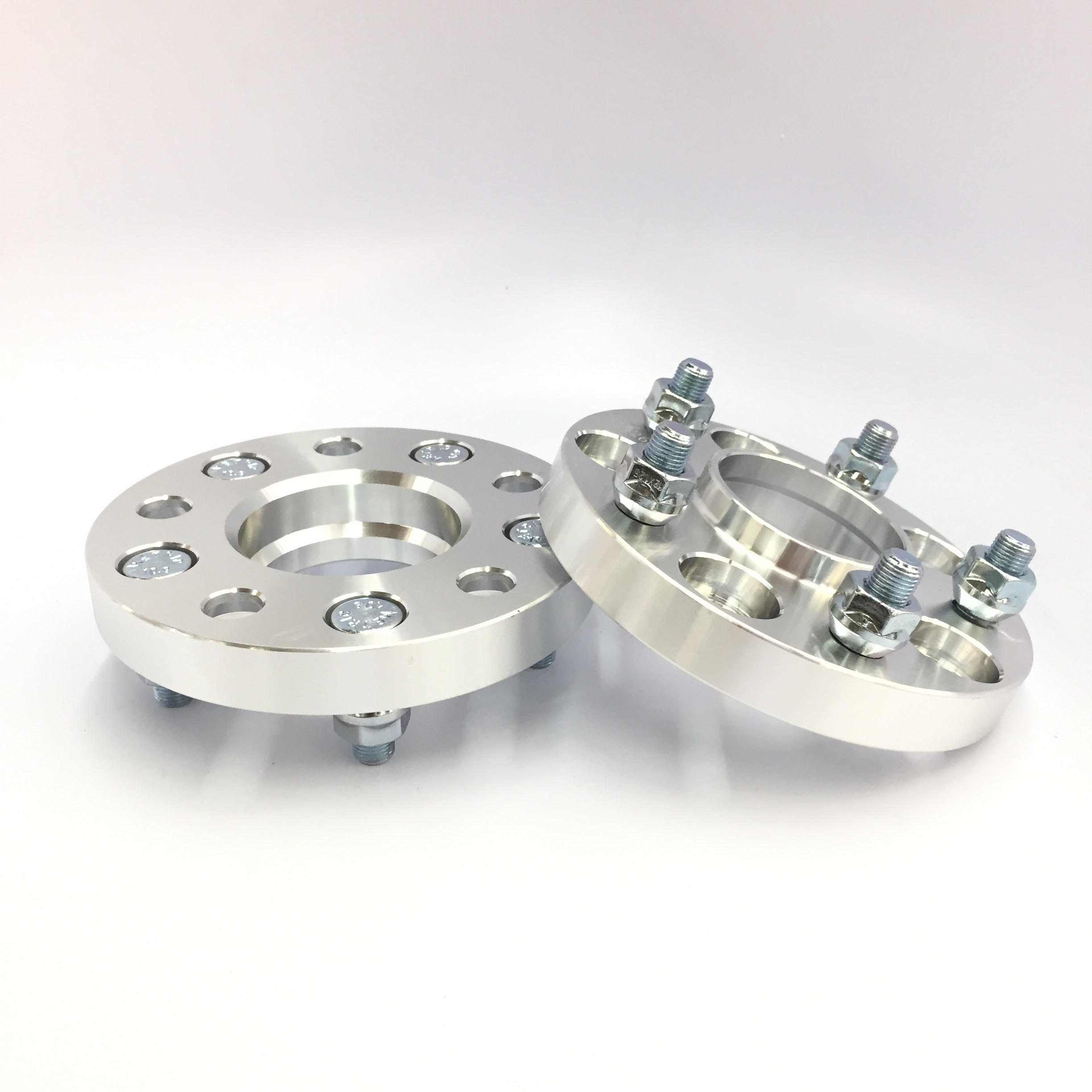 (2) HUBCENTRIC 5X100 TO 5X114.3 56.1 CB WHEEL ADAPTERS 30MM SPACERS