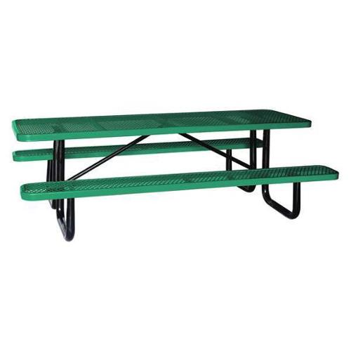 "4HUR8 Picnic Table, 96"" W x62"" D, Green by VALUE BRAND"