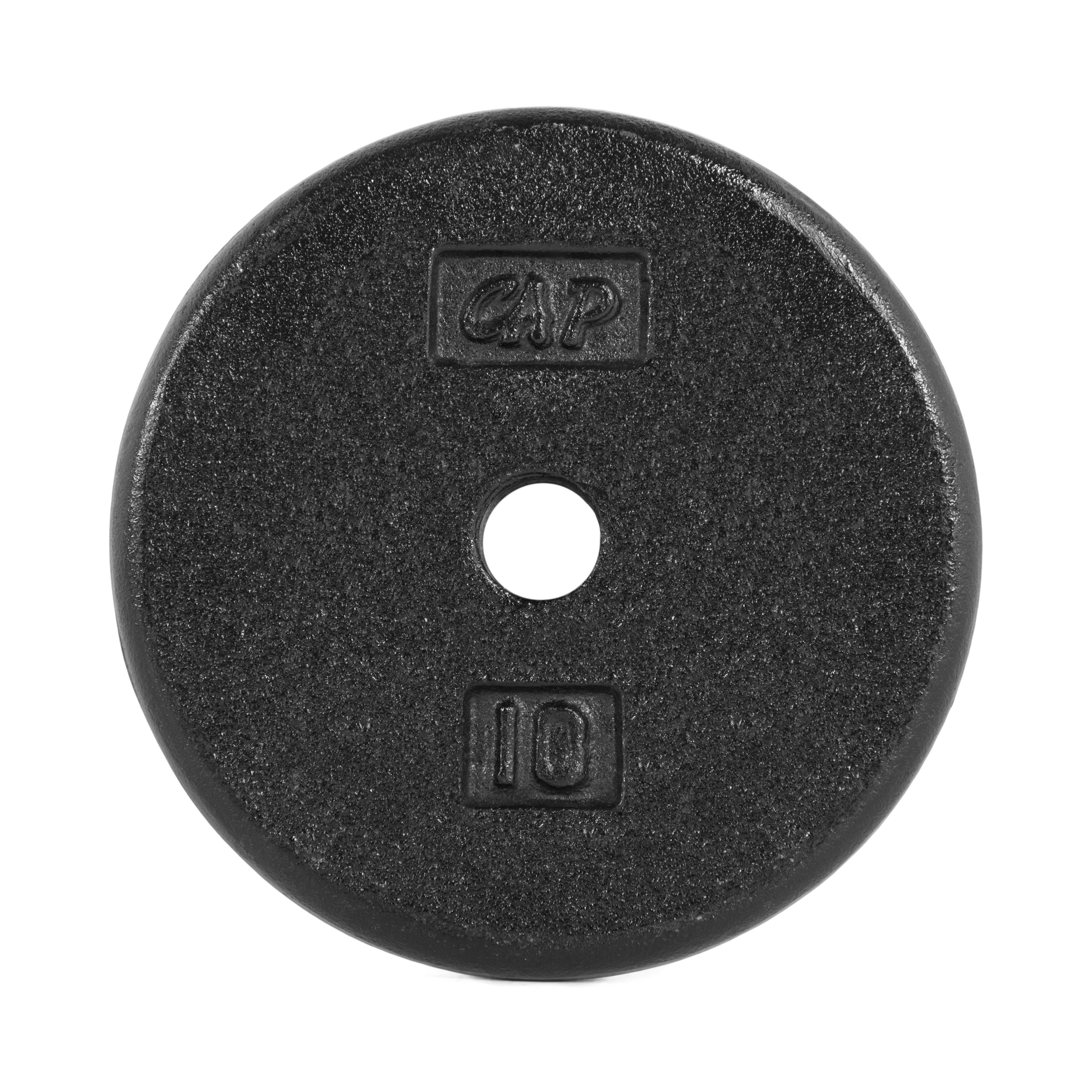 1 Inch Standard Hole 2.5lb Plates 4 CAP Weight Set - 10 Pounds lbs Total