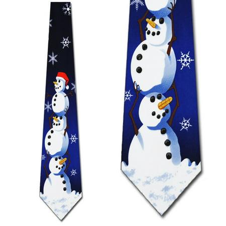 Christmas Ties Snowman NeckTie Mens tie