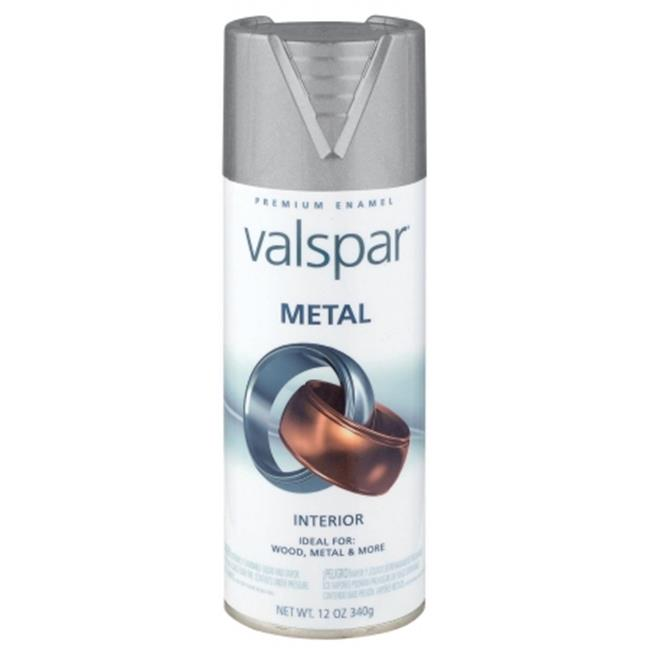 Valspar Brand 465-66005 SP 12 Oz Brushed Nickel Metal Spray Paint - Pack of 6