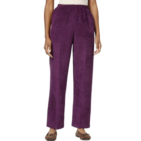 6350d3b8d28 Alfred Dunner - Alfred Dunner Womens Pull-on Solid Corduroy Pants ...