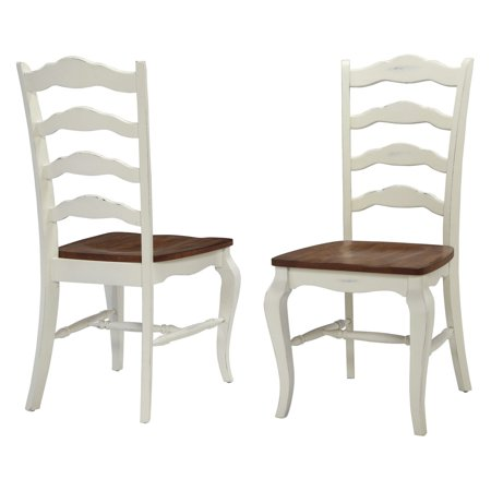 Home Styles French Countryside 2-Piece Oak Dining Chair Set, Off White 2 French Country Chairs