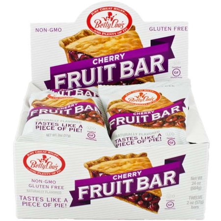 Betty Lou's, Vegan and Gluten Free Fruit Bar, Cherry, 12 (Betty Lous Fruit Bar)
