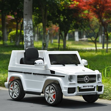 Costway Mercedes Benz G65 Licensed 12V Electric Kids Ride On Car RC Remote Control White - image 5 of 10