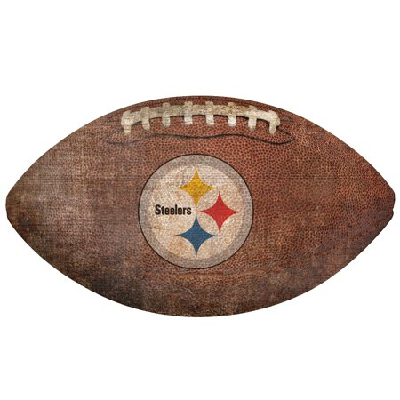 Pittsburgh Steelers 12'' Football Sign - No Size