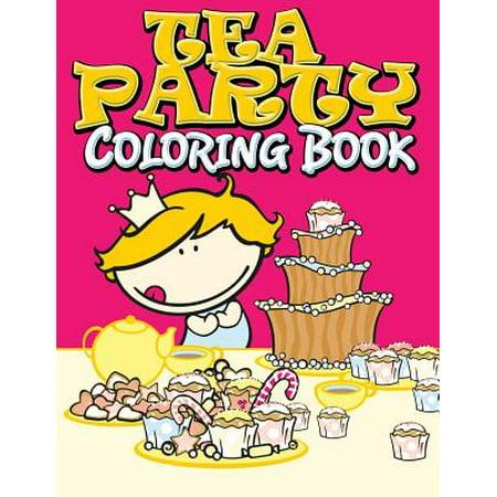 Tea Party Coloring Book - Walmart.com