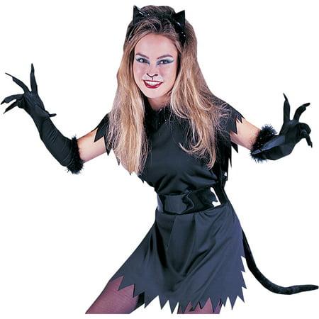 Morris Costumes Womens Cat Set Ears Tail Instant Fancy Dress Black, Style FW8130C