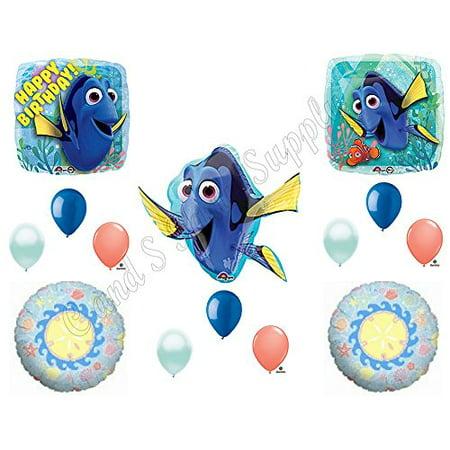 FINDING DORY SEASHELLS Happy Birthday Balloons Decoration Supplies Party Disney Nemo - Seashell Party Decorations