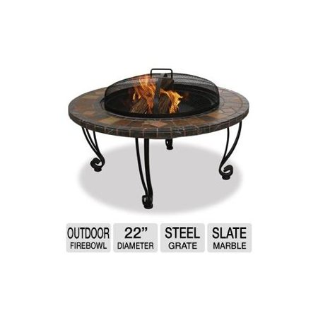 Blue rhino wad820sp outdoor firebowl 22 diameter easy for Outdoor fireplace spark arrestor