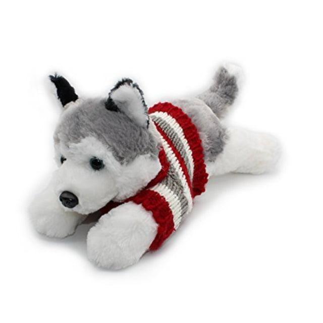 Vintoys Siberian Husky In Red T Shirt Lying Plush Puppies Stuffed