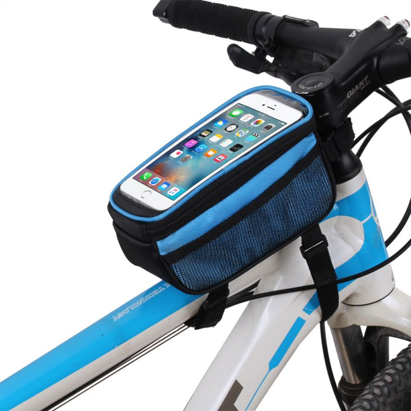 Cycling Bike Frame Pannier Front Tube Bag Cell Phone Bicycle Touch Screen New