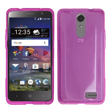 Phone Case For ZTE Zmax One LTE Z719DL, ZTE Blade Spark 4G (AT&T), ZTE Grand X4 (Cricket Wireless) Gel Flex Cover Case (Pink) ()