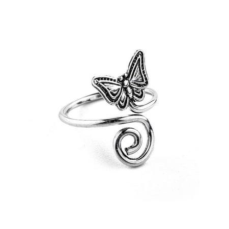 Butterfly Toe Ring in Sterling Silver