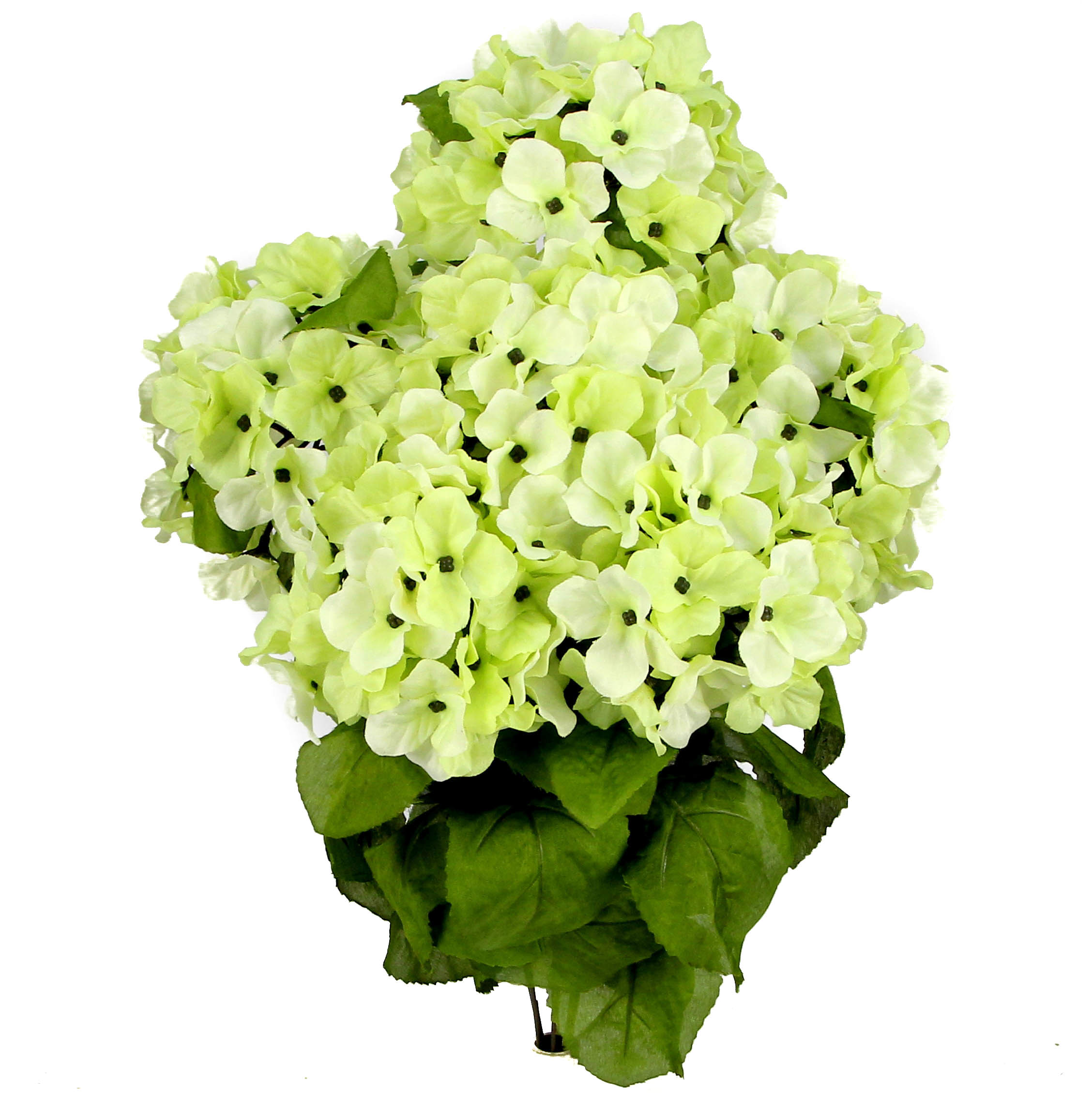 Admired By Nature 7 Stems Artificial Full Blooming Stain Hydrangea, Celery