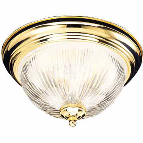 "Design House 503037 Millbridge 1-Light 11.25"" Ceiling Mount, Polished Brass Finish"