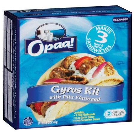 Opaa Gyros Kit With Pita Flatbread 19 8oz Walmart Com