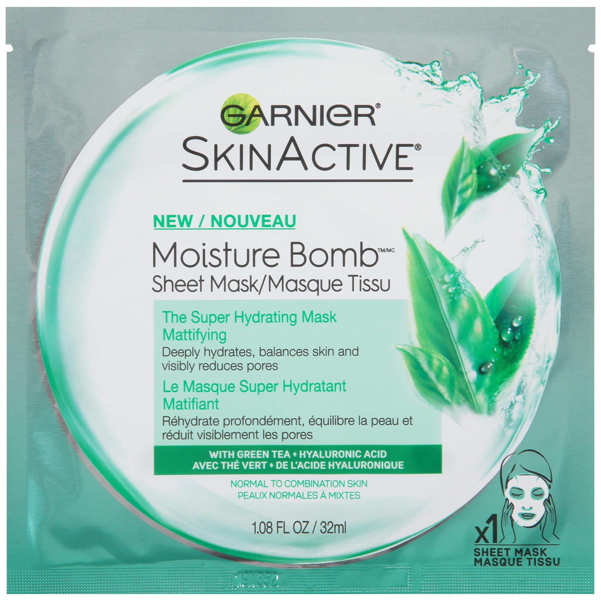 Garnier SkinActive Moisture Bomb The Super Hydrating Mattifying Sheet Mask 6 ct Pack