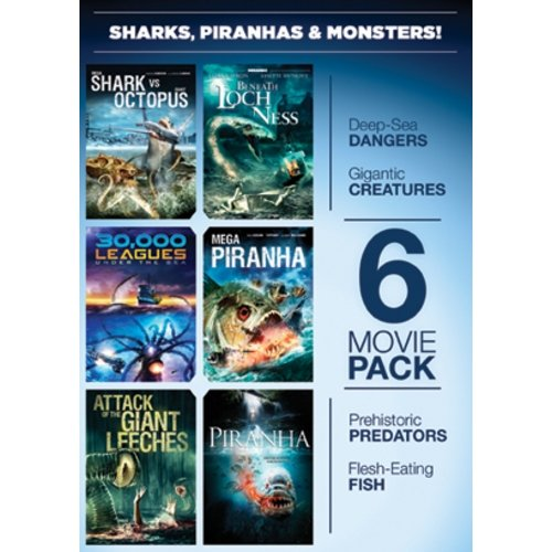 Platinum Us Distrib 6-movie Pack: Sharks, Piranha Dvd Mp Ff