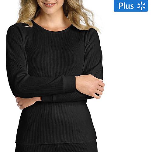 Hanes - Women's Plus Thermal Underwear Crew Tee