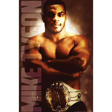 Mike Tyson Heavyweight Champion Boxing Sports Poster 24X36 Inch
