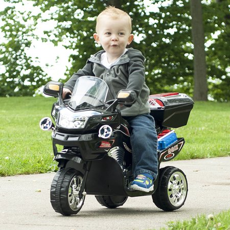 3 Wheel Motorcycle, Ride on Toy for Kids by Rockin' Rollers â Battery Powered Ride on Toys for Boys and Girls, 2 - 5 Year Old - FX Black