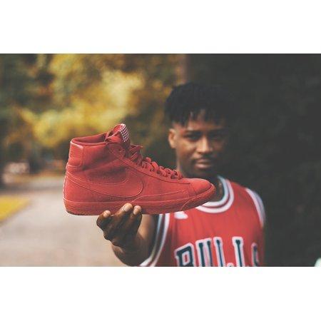 Canvas Print Close Up Athlete Focus Adult Air Jordan Boy Blur Stretched Canvas 10 x 14