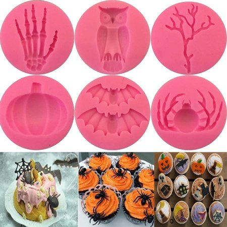 Micelec Halloween Spider Hand Pumpkin Silicone Baking Mold Fondant Fudge Cake Decors - Halloween Baking Accessories