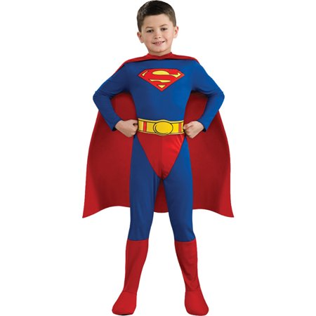 Morris Costumes Boys Long Sleeve Superman Toddler Complete Outfit 2-4, Style RU882085T for $<!---->
