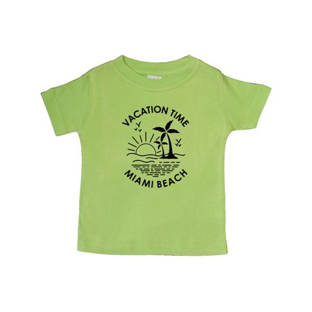 Vacation Time in Miami Beach Baby T-Shirt