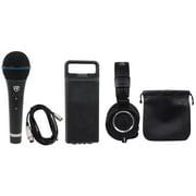 Audio Technica ATH-M50X Pro Studio Monitor Headphones W/ Case+Mic+Case+Cable