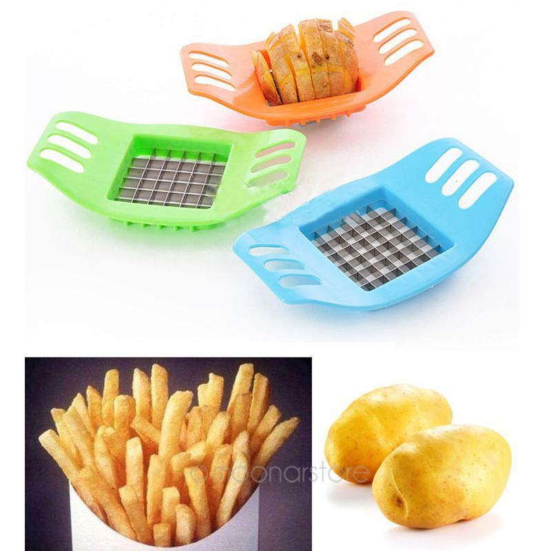 French Fry Potato Chip Cut Cutter Vegetable Fruit Slicer Chopper Easy Kitchen