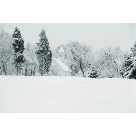 Snow covered golf course Congressional Country Club Potomac Montgomery County Maryland USA Canvas Art - Panoramic Images (9 x 27)