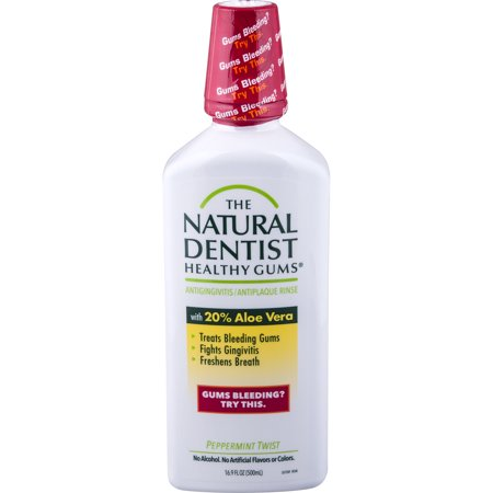 The Natural Dentist Healthy Gums Peppermint Twist Antigingivitis Rinse, 16.9 fl (Twisted Peppermint Shimmer)