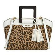 Women's Nine West Joelle Small Tote Bag Leopard OSFA