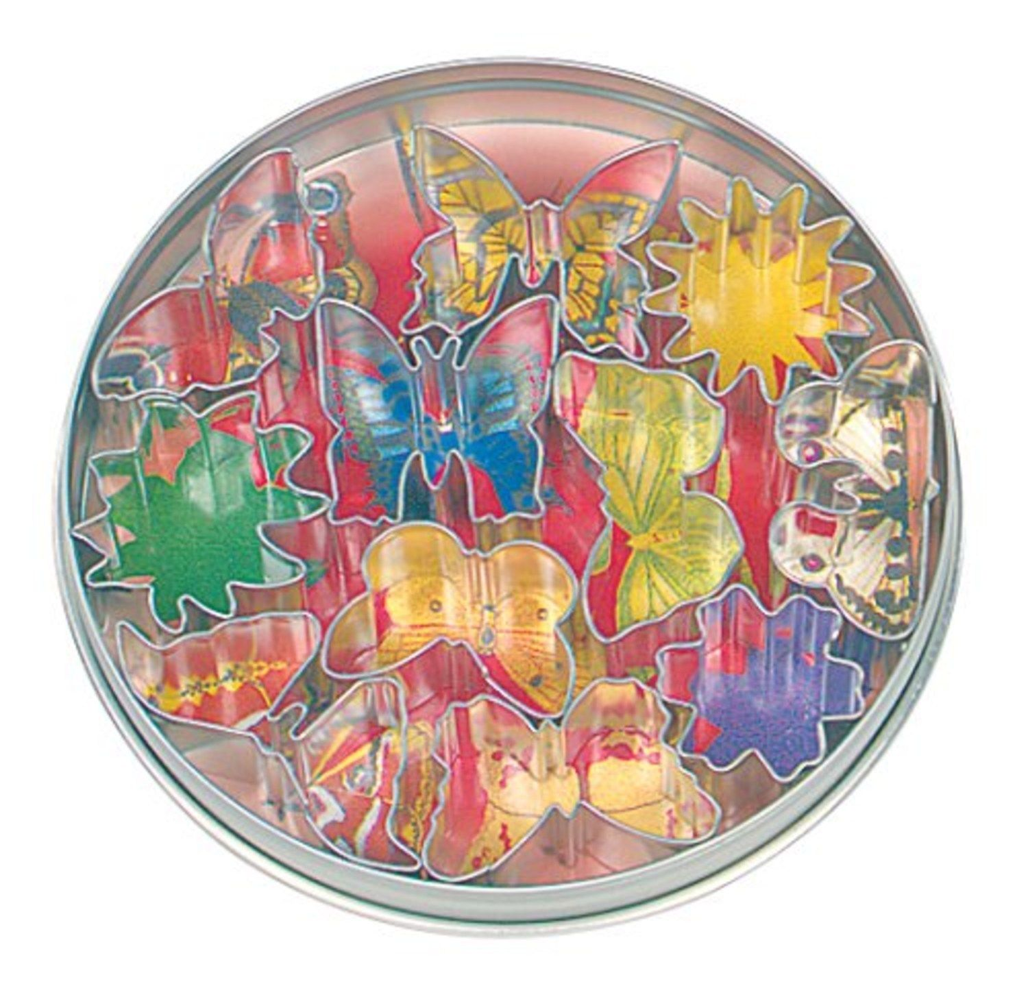 Fox Run 11 Piece Flower & Butterfly Shaped Cookie Biscuit Mold Cutters New by Fox Run
