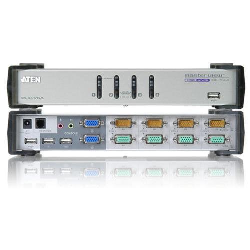 Aten MasterView CS-1744 KVM Switch 4 x 1 4 x SPDB-15 Keyboard Mouse Video, 4 x SPDB-15 Audio Video by ATEN