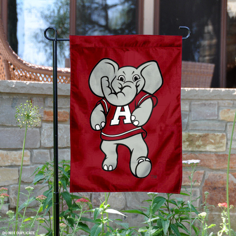 "Alabama Crimson Tide Mascot Big AL 13"" x 18"" College Garden Flag"