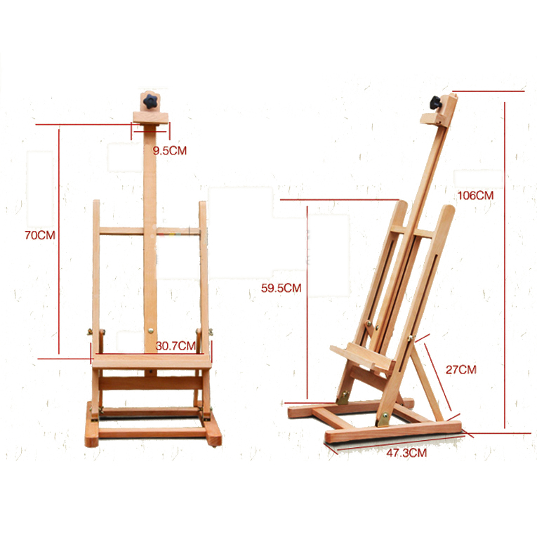 "Zimtown 42"" to 69"" Height Adjustable Easel Stand, Folding Portable Beechwood H Frame Deluxe Studio Easel, for Artist Drawing, for Studio Painting Display - image 6 of 9"