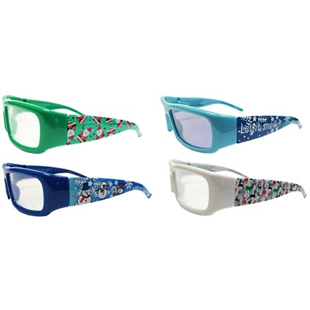holiday specs 3d plastic christmas glasses snowman holographic blue frames transform your holiday lights